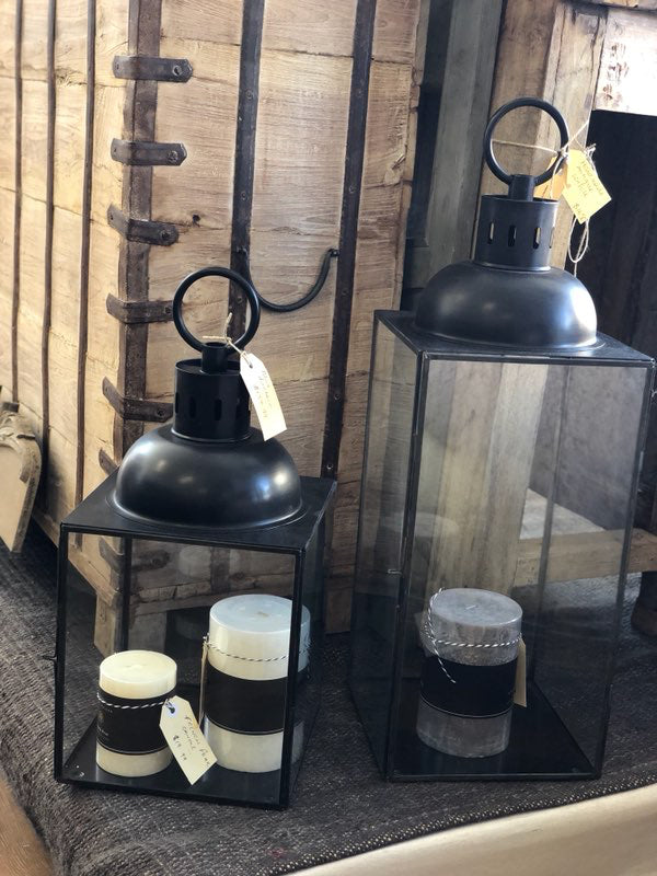 Black Candle Lantern (Medium or Large)