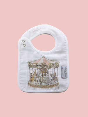 French Organic Cotton Bib - Carousel by Atelier Choux (Small)