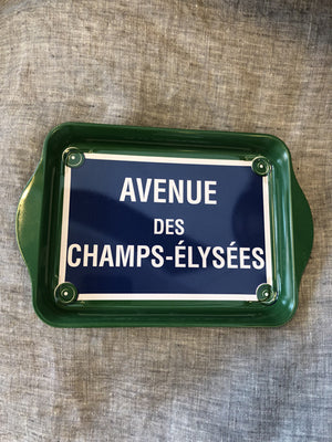 """Avenue des Champs Elysees"" Metal French Tray"