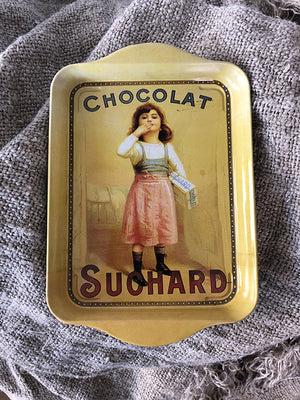 """Chocolat Suchard"" Small Tin Metal Tray"