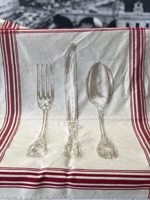 """French Cutlery"" Cotton Tea Towel"