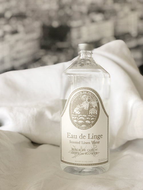 Durance French Scented Linen Water with Cotton Flower 1L