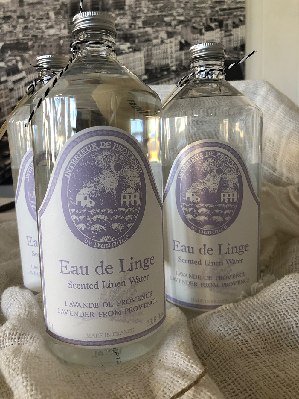 Durance French Scented Linen Water with Lavender 1L