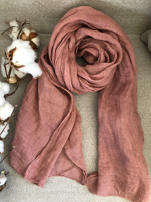 Linen Scarf (Various Colours)