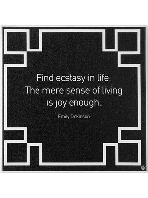 Ecstacy quote canvas wall art by Sophia Thinking