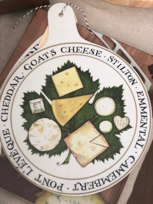 Ceramic French Cheese Serving Platter