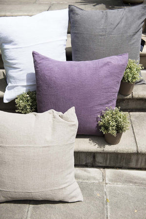 Linen Cushion Cover - Granite