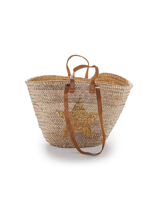 French Market Gold Star Basket