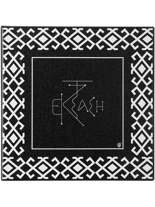 Greek Ecstacy word Black and White canvas wall art by Sophia Thinking