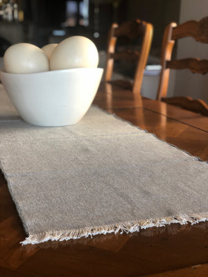 Cotton Table Runner - Grey
