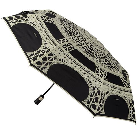 Eiffel French Foldable Umbrella by Guy de Jean (Black)