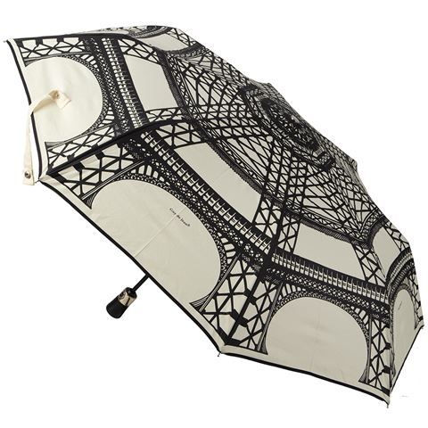 Eiffel French Foldable Umbrella by Guy de Jean (White)