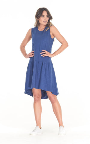 Clé Organic Basics Hailey Dress (Blue or Khaki)