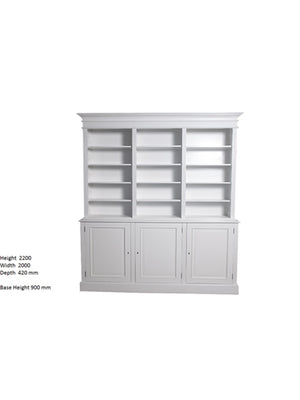 Hamptons White Bookcase