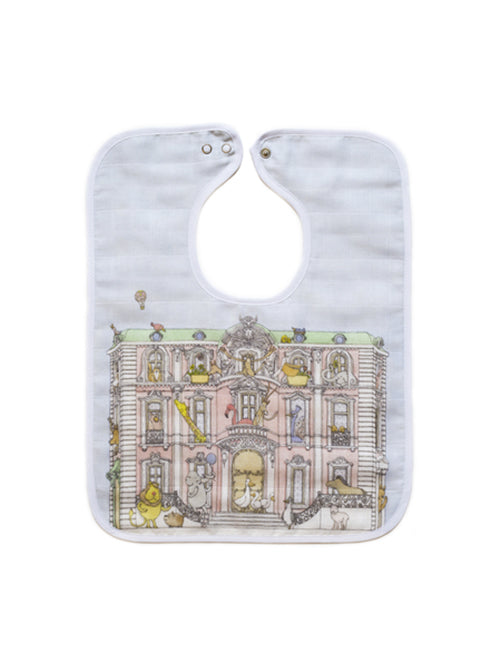 French Organic Cotton Bib - Haussman Jungle