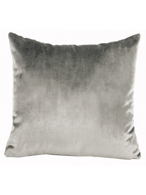 IOSIS French Velvet and Linen Cushion in Grey