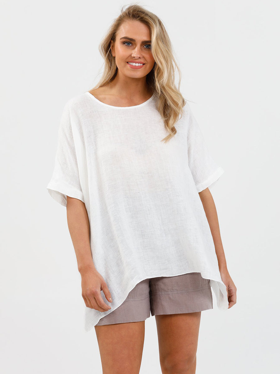 Brave + True Iris Top - White