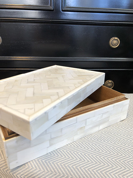 Ivory Bone Inlay Storage Box (Large)