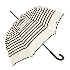 Jean Paul Gaultier Cream with Black Stripe French Umbrella
