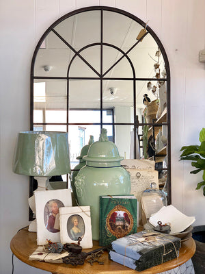 Arched French Style Iron Mirror