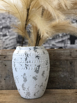 Large Stone Pot - White