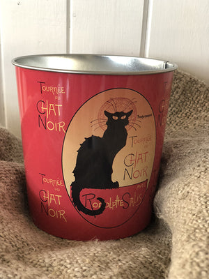 Le Chat Noir Small Tin Metal Bucket