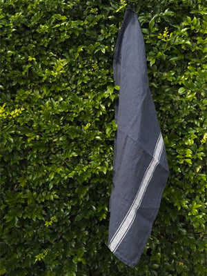 Linen Tea Towel in Navy by Harmony