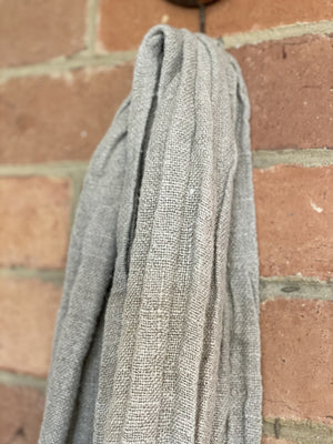Natural Hand loomed Linen Scarf
