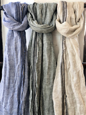 100% Linen Scarves (various)
