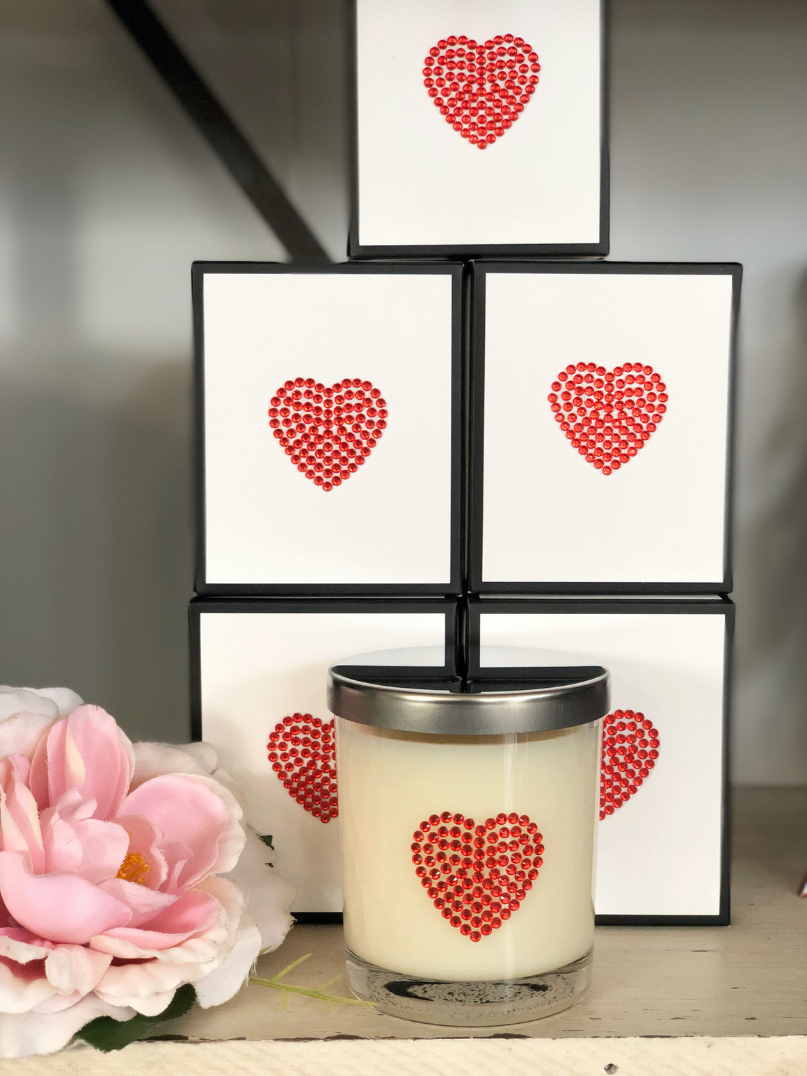 Love Heart Soy Candles