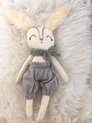 Lulu Winter Grey Bunny Doll by La Maison de Poupee