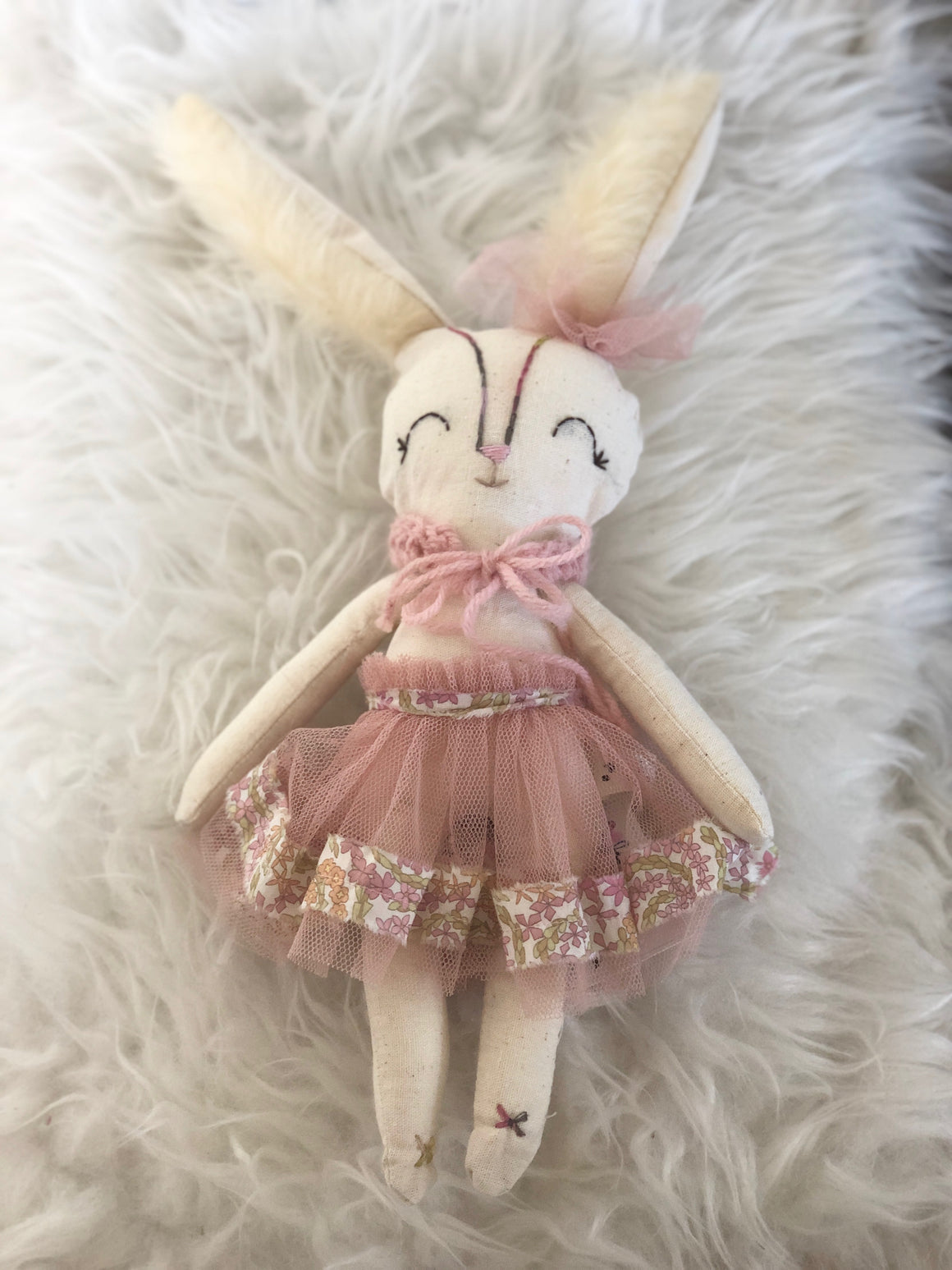 Lulu Winter Pink Bunny Doll by La Maison de Poupee