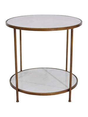 Louisa Marble Round Side Table