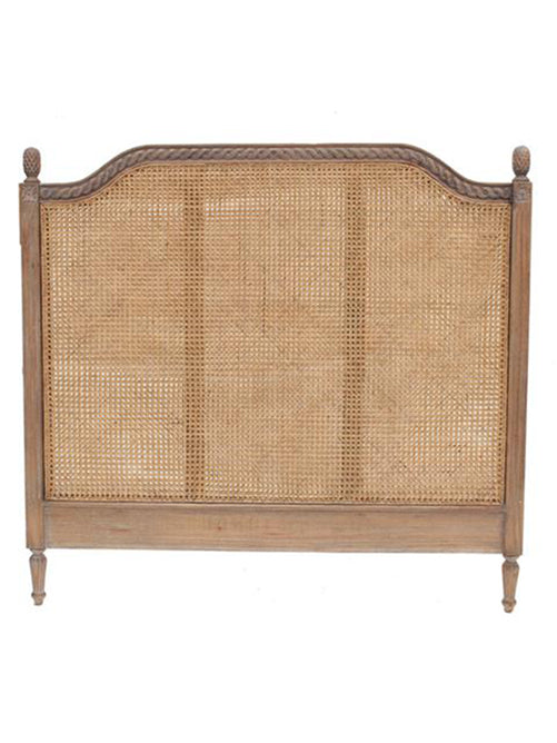 Marseille Rattan Headboard in Weather Oak