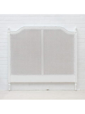 Marseille Rattan Headboard White