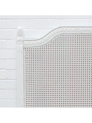 Marseille Rattan Headboard in Distressed White