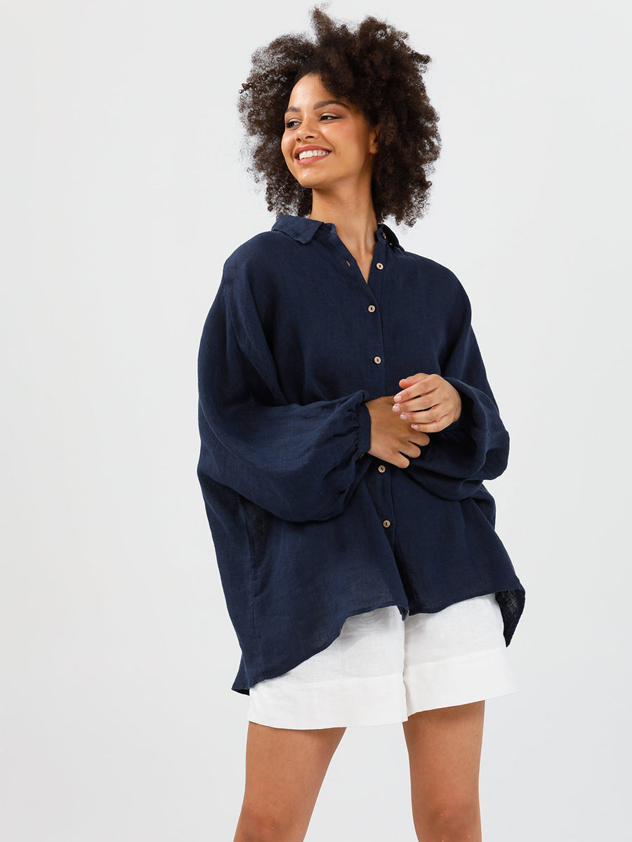 Brave + True Monty Shirt - Navy