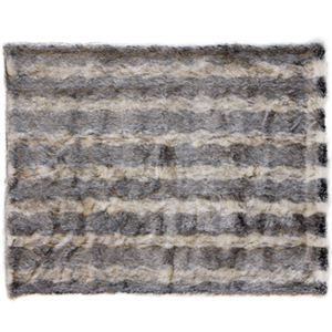 Mountain Wolf Luxury Faux Fur Throw