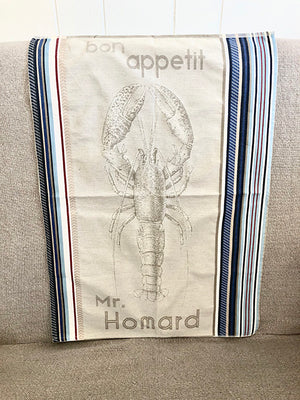 """Mr Homard"" French Cotton Tea Towel"
