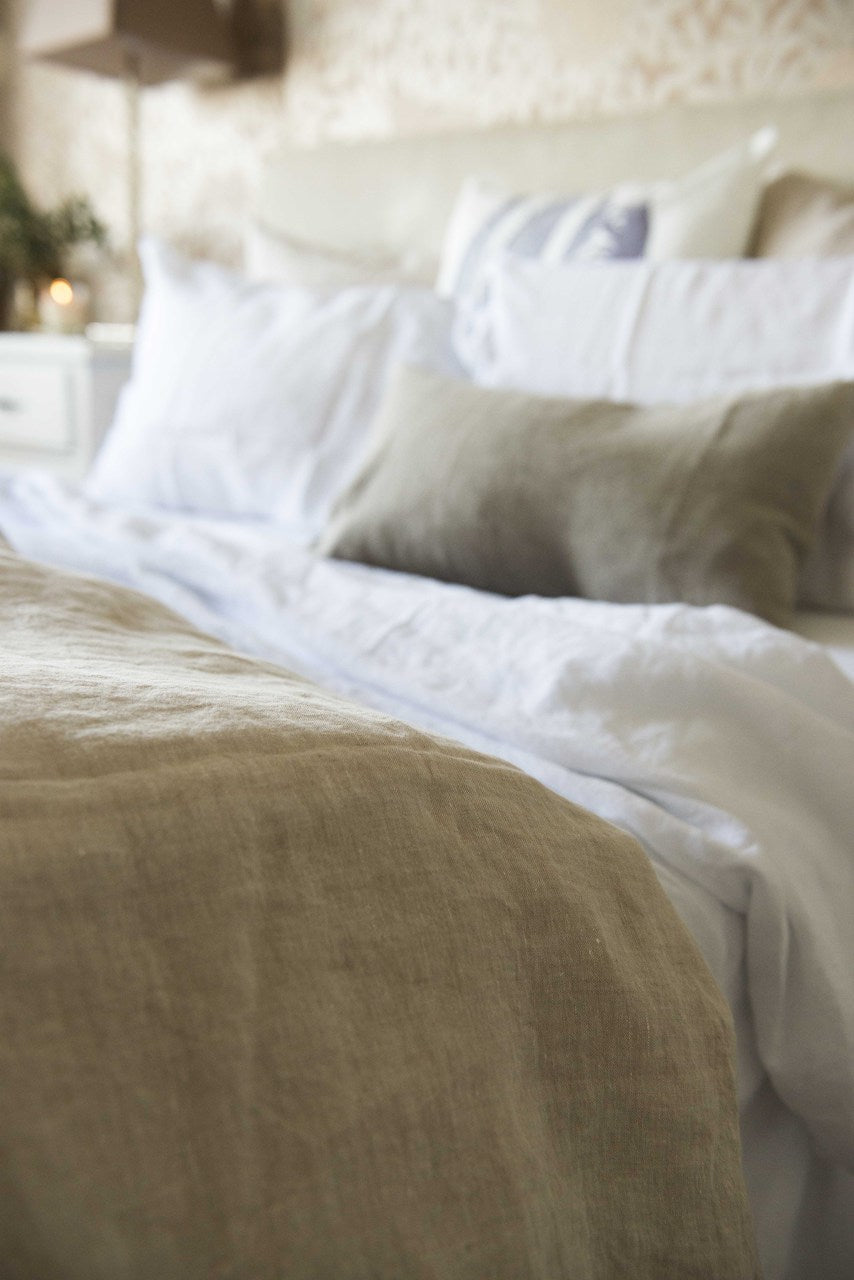 Linen Quilt Cover - Natural
