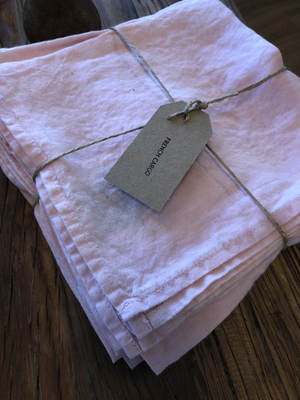 European Linen Table Napkin - Light Pink