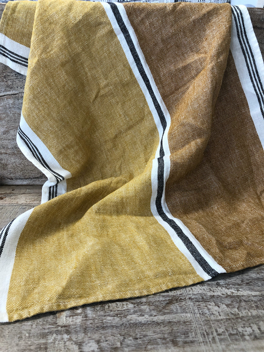 Saffron 100% French Linen Tea Towel