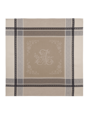 Romantique Jacquard French Cotton Napkin - Latte