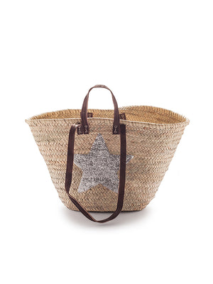 French Market Silver Star Basket