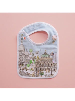 French Organic Cotton Bib - Paris by Atelier Choux (Small)