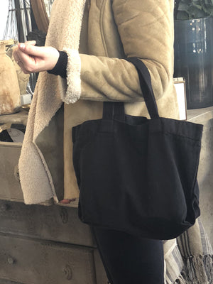 Small Linen Tote (Black)