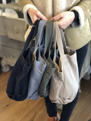 Small Linen Tote (Grey)