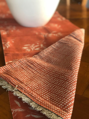 Reversible Cotton Table Runner - Terracotta