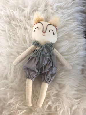 Topy Winter Grey Fox Doll by La Maison de Poupee