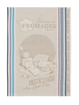 Camembert Jacquard French Cotton Tea Towel